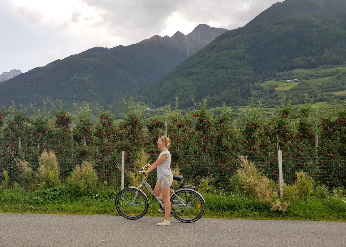 Fietsen in Zuid-Tirol, foto door Chantal van Alleen op reis