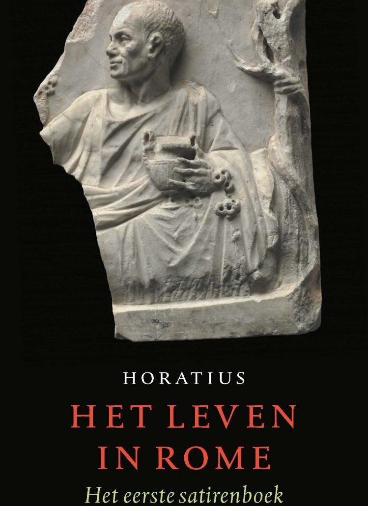 De voorkant van het boek 'Het leven in Rome' van Horatius