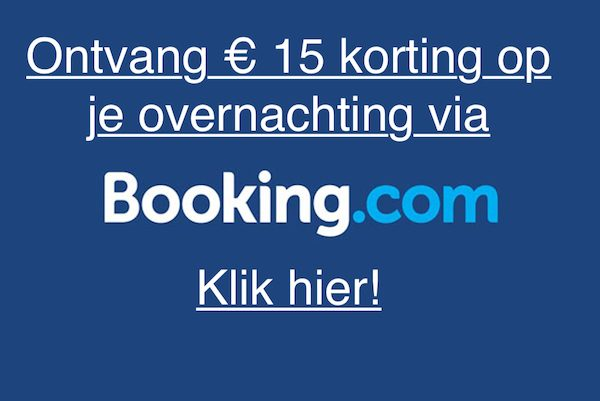 Ontvang € 15 korting bij booking.com / booking.com kortingscode