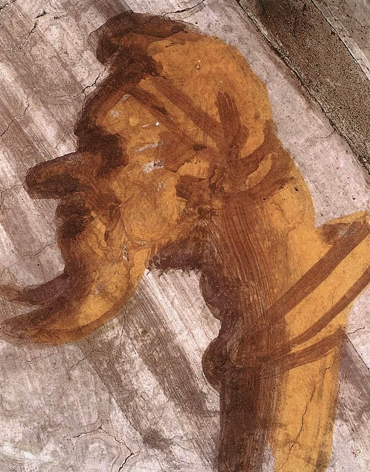 Het scepter met hierop het hoofd van Julius II. Deze is te zien op de lunetschildering Salmon, Boaz en Obed in de Sixtijnse Kapel in Rome.
