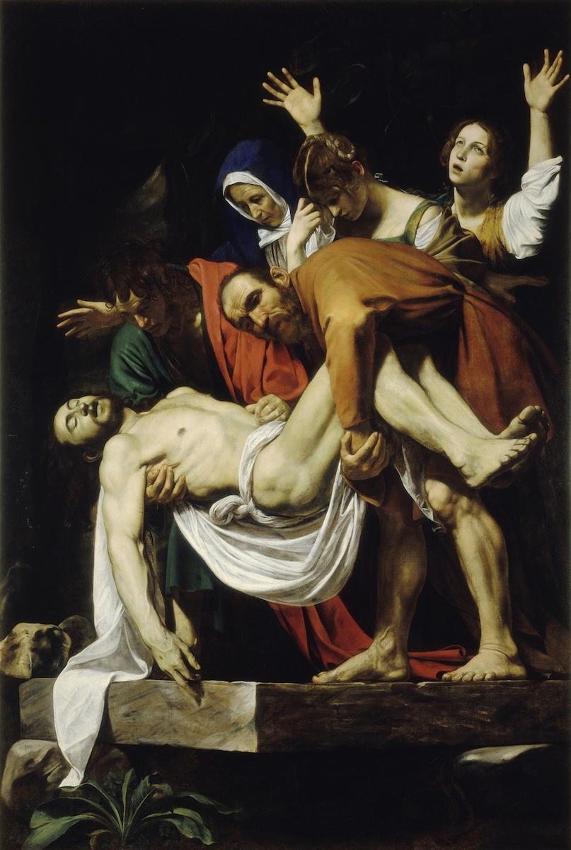 Caravaggio, Graflegging, 1602-03. Pinacoteca Vaticana, Vaticaanstad.