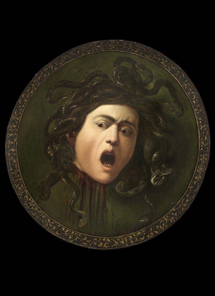 Caravaggio, Medusa, ca. 1596. Bruikleen particuliere collectie. Te zien in Centraal Museum Utrecht vanaf 15 januari 2019.