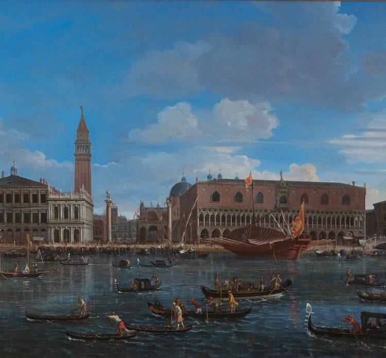 Caspar van Wittel, Gezicht op Venetie vanaf het eiland San Giorgio, ca. 1697, olieverf op doek, prive collectie