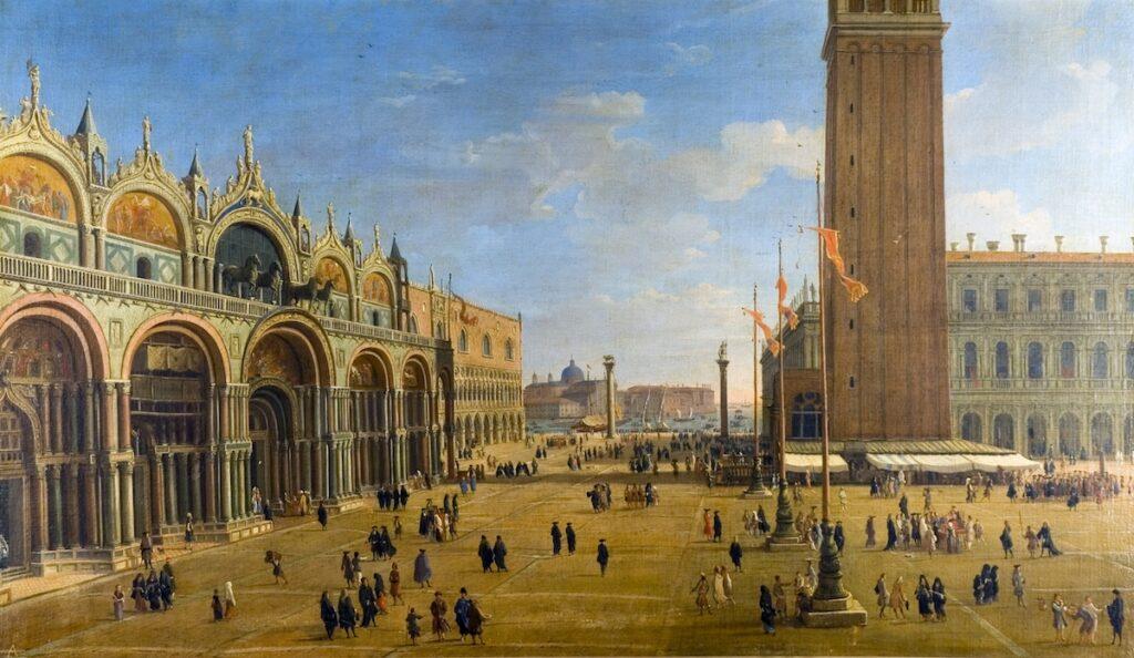 Caspar van Wittel, Piazza San Marco, ca. 1700, olieverf op doek, 71 x 123 cm, Casa Medinaceli, Sevilla