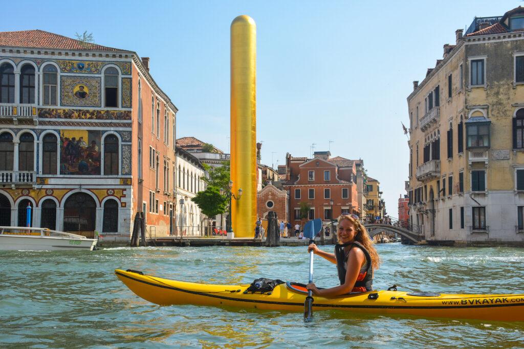 Kajakken in Venetië, volgens Caro Cools