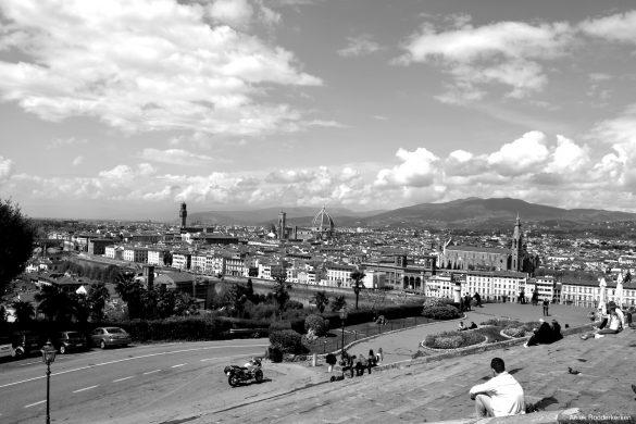 Uitzicht over Florence vanaf het Piazzale Michelangelo