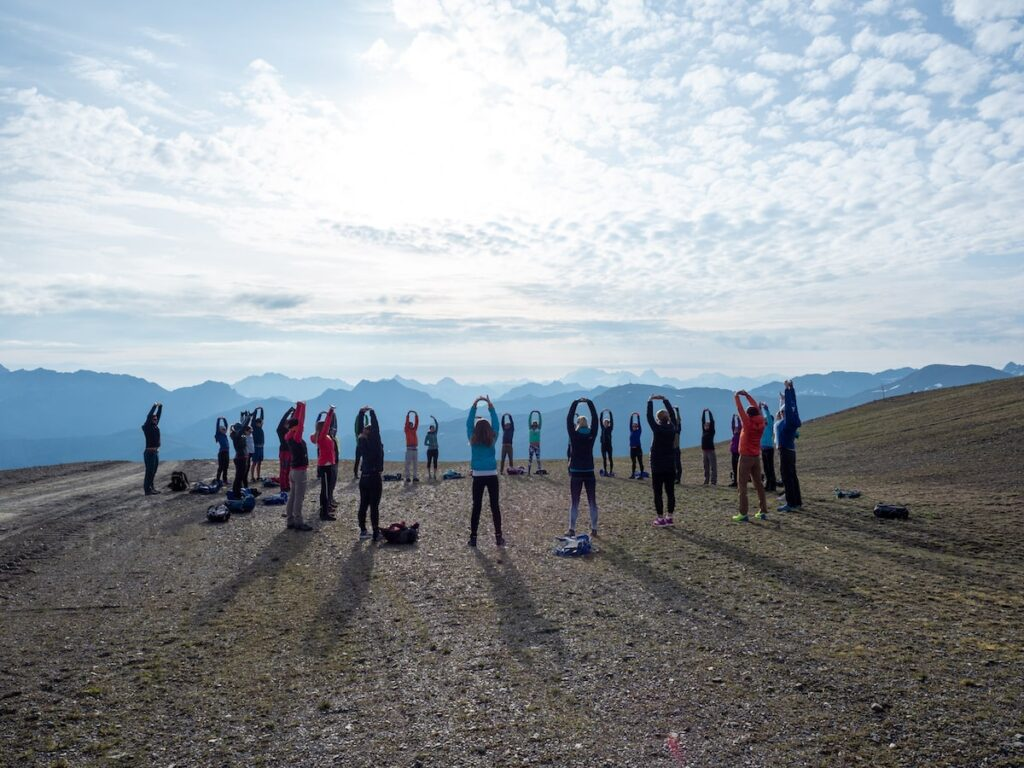 Yoga in Livigno. Foto door Fabio Borga