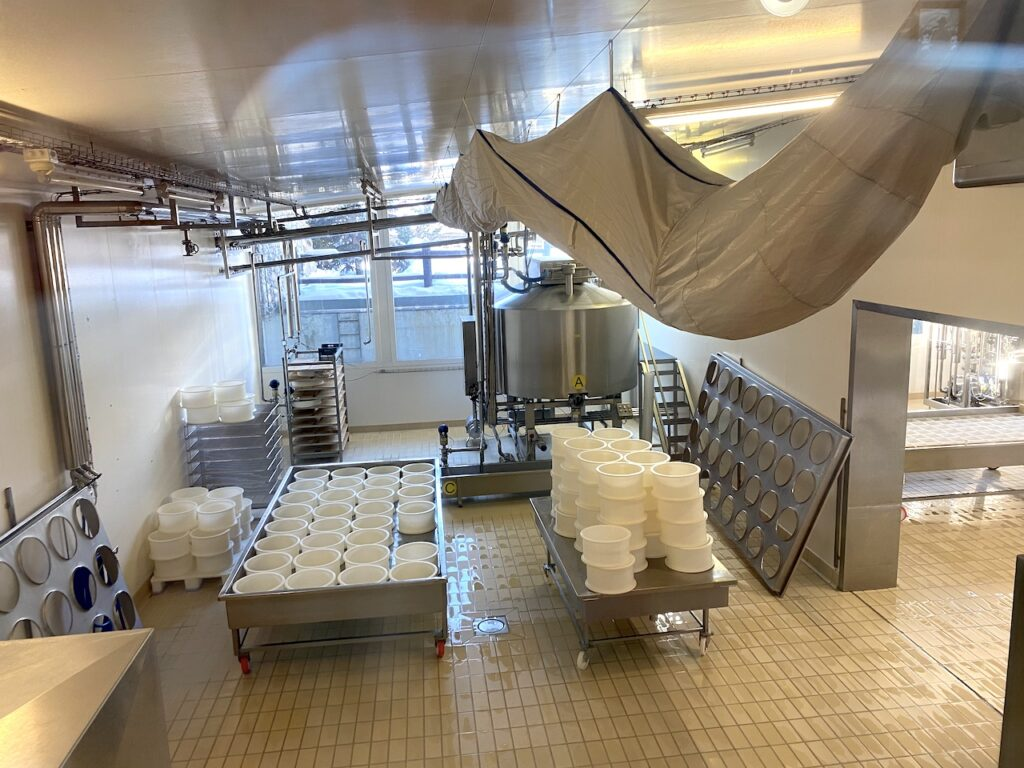 De zuivelfabriek van de Latteria di Livigno