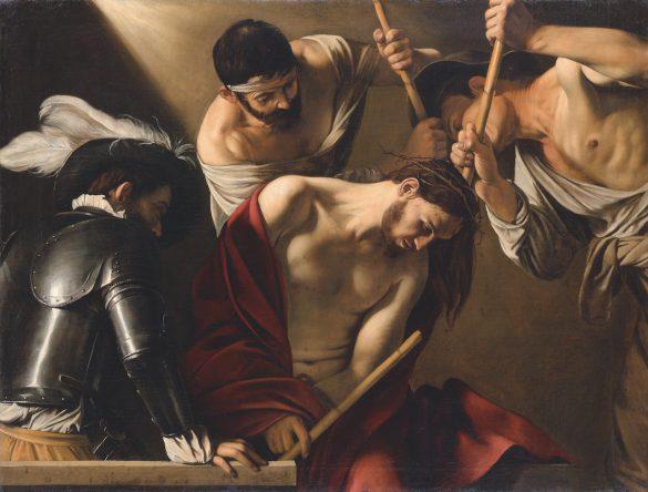 Michelangelo Merisi da Caravaggio, De doornenkroning, Rome, ca. Wenen, Kunsthistorisches Museum