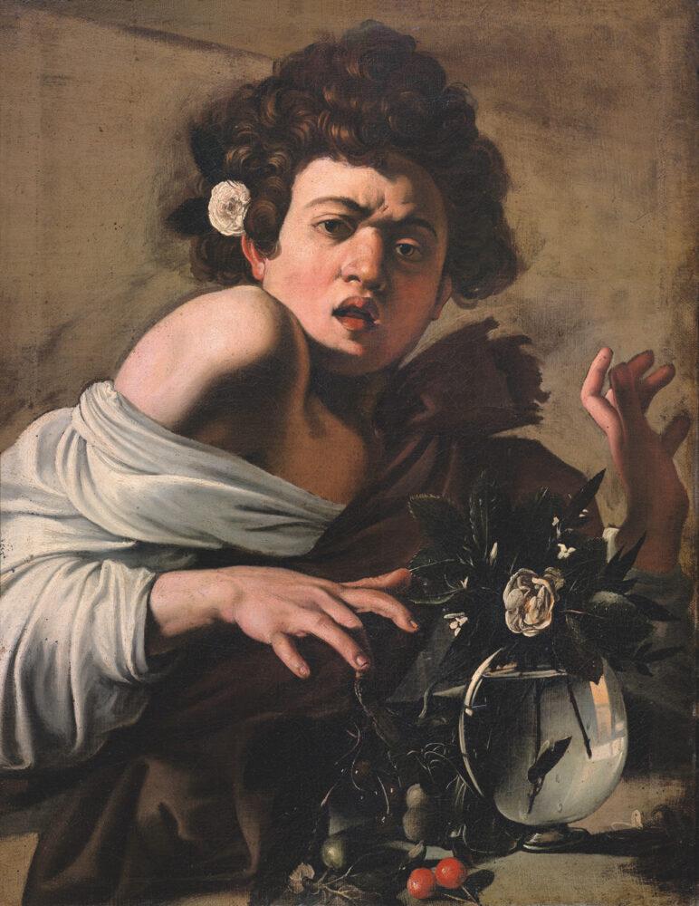 Michelangelo Merisi da Caravaggio, Jongen gebeten door een hagedis, ca. 1597–1598, Fondazione di Studi di Storia dell'Arte Roberto Longhi