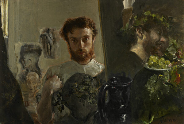 Antonio Mancini, 'Zelfportret in het atelier', ca. 1878, Galleria d'Arte Moderna di Palazzo Pitti, Florence