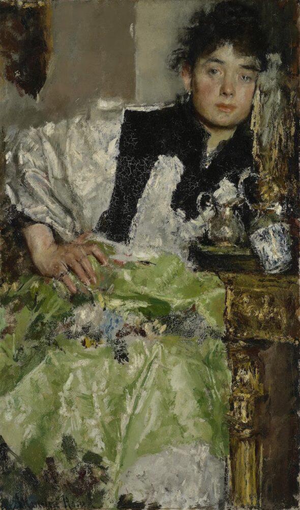 In gedachten verzonken Antonio Mancini, 1895 - 1898