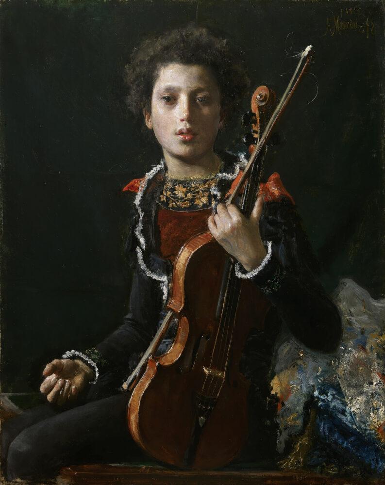 Antonio Mancini, 'Acrobaat met viool (Portret van Luigi Gianchetti)', 1878, Kunsthandel Bottegantica, Milaan