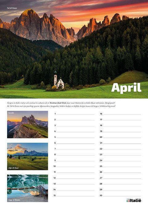 Verslaafd aan Italië Verjaardagskalender