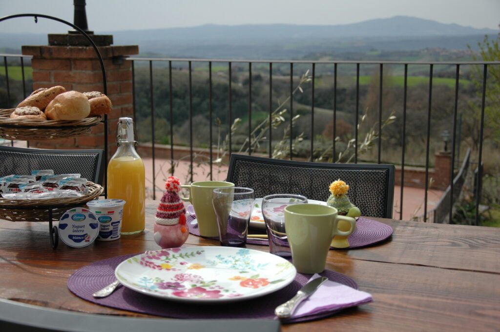 Ontbijt bij Vista sull'oliveto