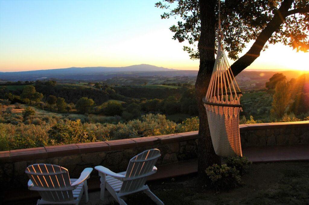 Uitzicht vanaf Vista sull'oliveto