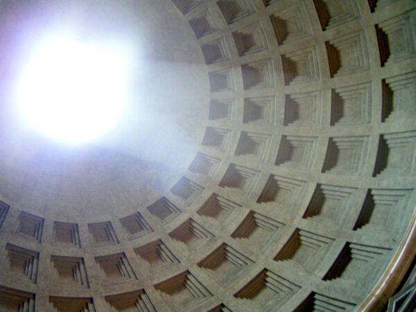Staar omhoog in het Pantheon