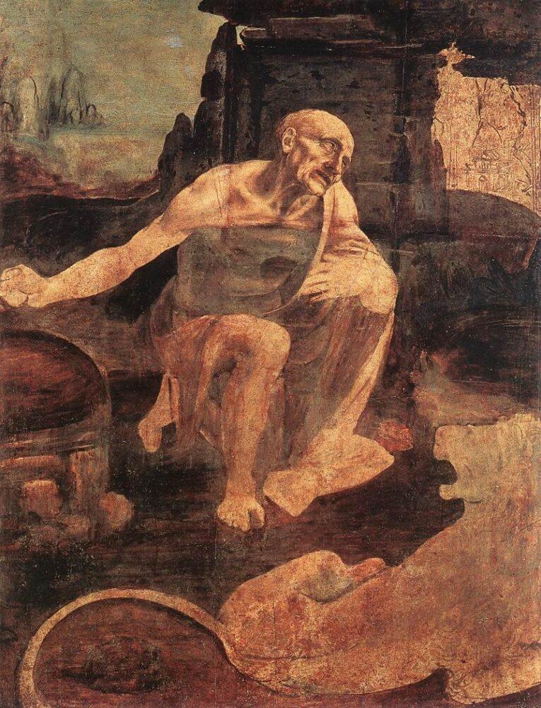 De boetvaardige Hiëronymus, Leonardo da Vinci
