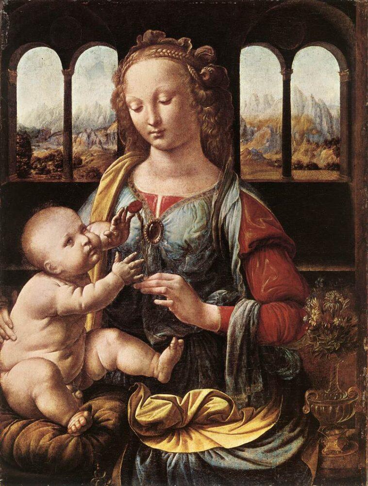 Madonna met de Anjer, Leonardo da Vinci