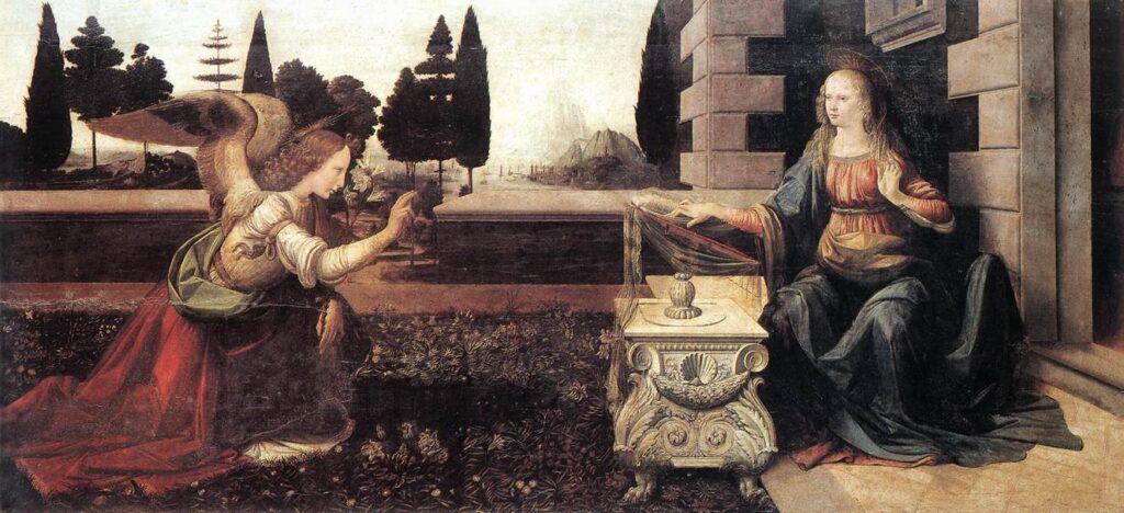 Leonardo da Vinci, Annunciatie