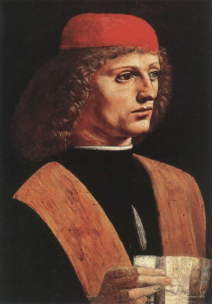 Portret van een muzikant, Leonardo da Vinci