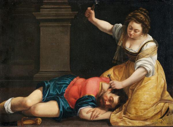 rtemisia Gentileschi, Jaël en Sisera, 1620, Museum of Fine Arts, Budapest
