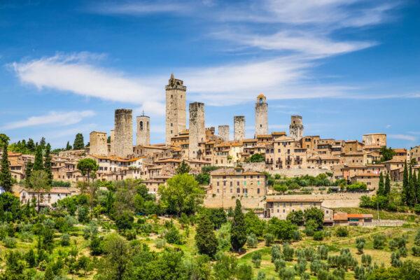 Middeleeuws stadje San Gimignano in Toscane