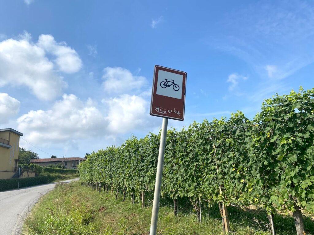 Bar to bar fietsroute in Piemonte