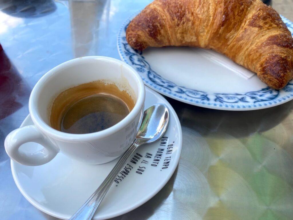 Espresso tijdens de koffiestop