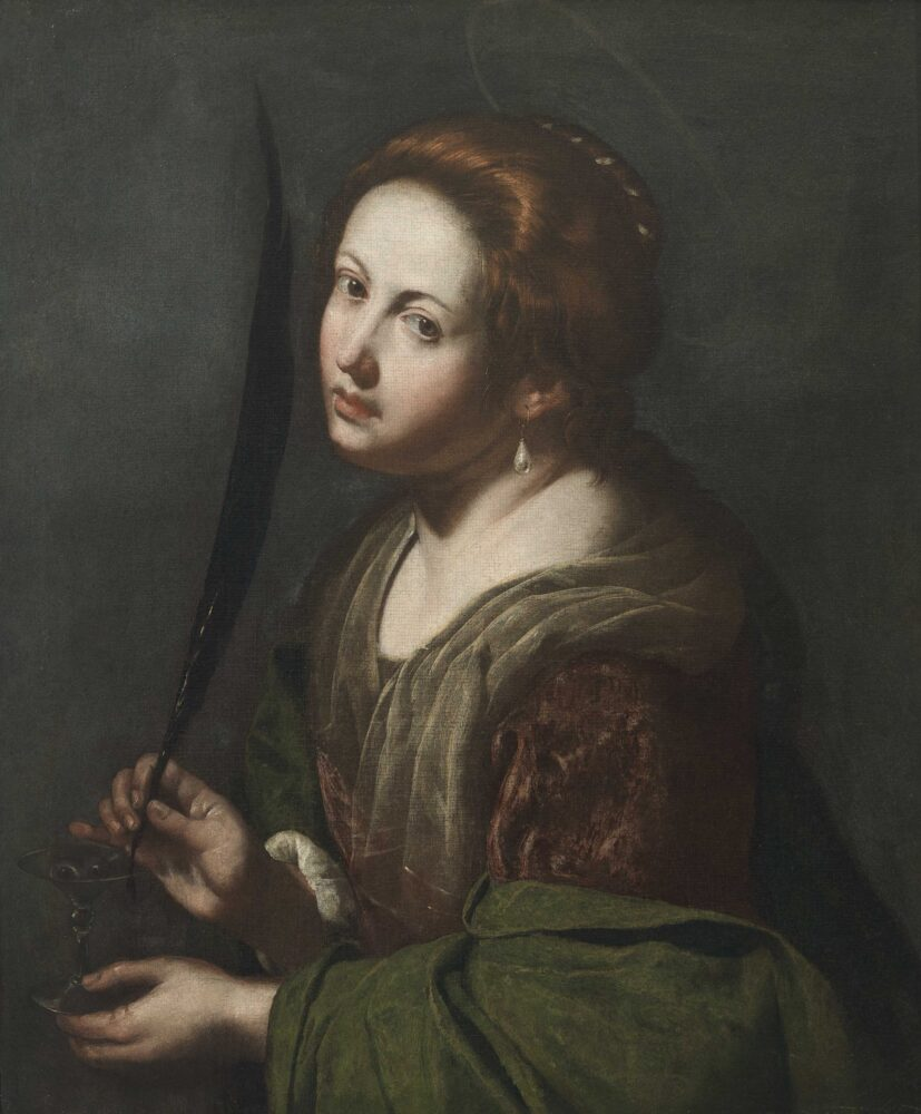 Artemisia Gentileschi, Santa Lucia, 1636-38, Privé verzameling